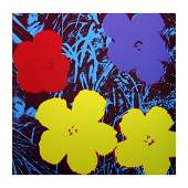 "Andy Warhol ""Flowers 11.71"" Silk Screen Print from"