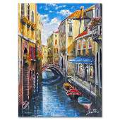 """Anatoly Metlan - """"Venice"""" Limited Edition Lithograph,"""