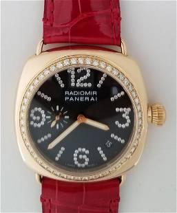 Panerai Radiomir 18K Gold Diamond Bezel & Markers,
