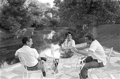 James Dean and Liz Taylor Relaxing During the Filming