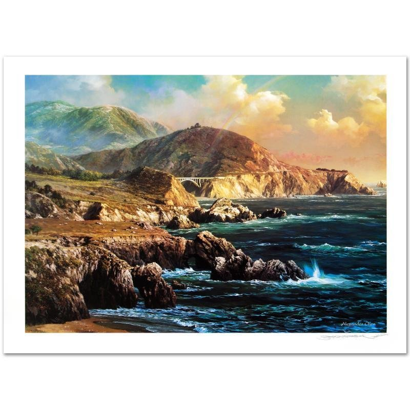 """""""Big Sur"""" Limited Edition Lithograph by Alexander Chen!"""