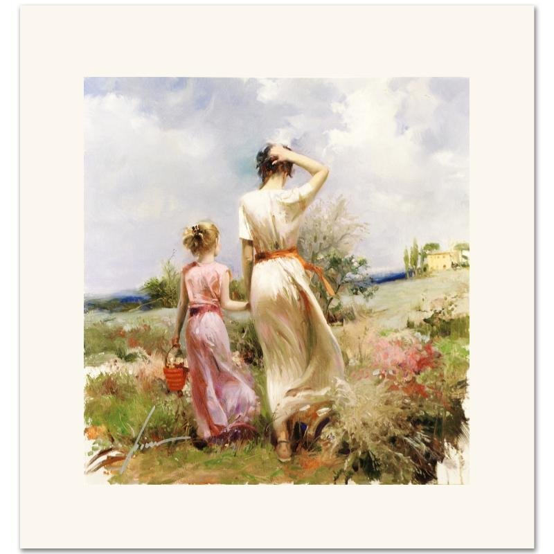 """""""Tuscan Stroll"""" Limited Edition Giclee on Canvas by"""