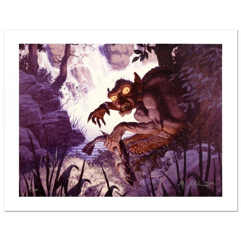 """""""Gollum"""" Limited Edition Giclee on Canvas by The"""