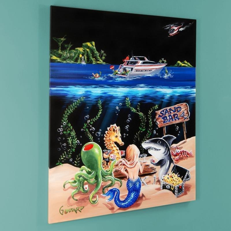 """Sand Bar 1"" LIMITED EDITION Giclee on Canvas (28"" x"