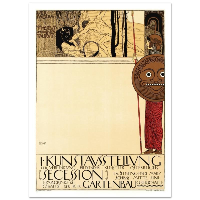 """""""Kunstavsstellvung"""" Hand Pulled Lithograph by the RE"""