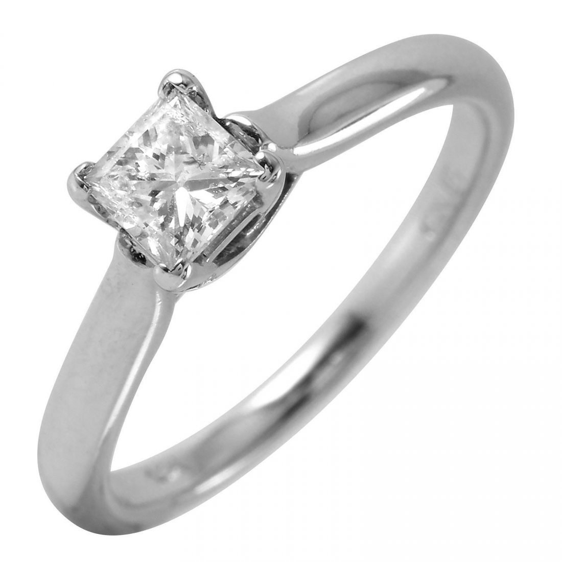 14KT White Gold Diamond Solitaire Ring - #42