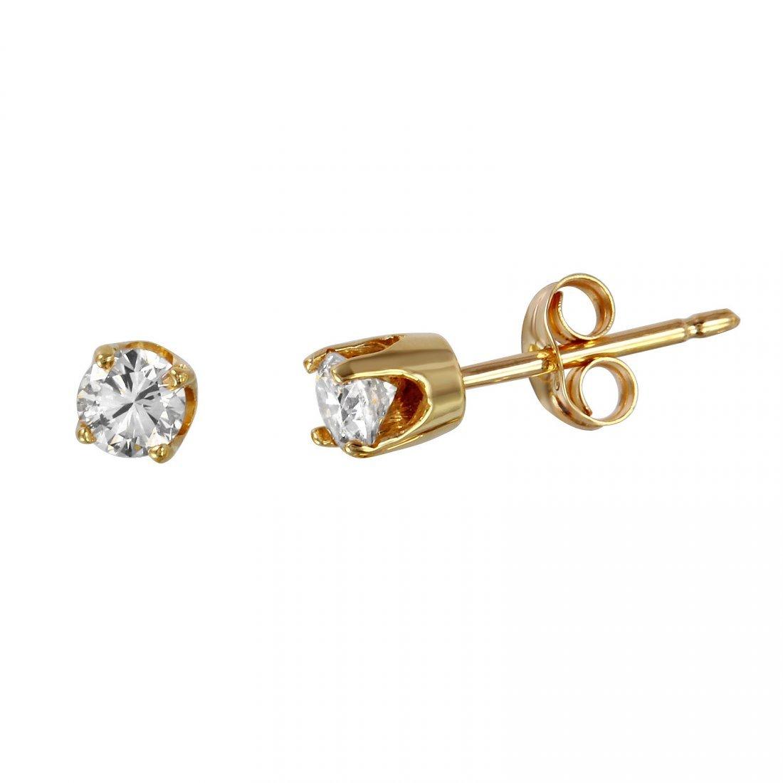 14KT Yellow Gold Stud Earrings - #923