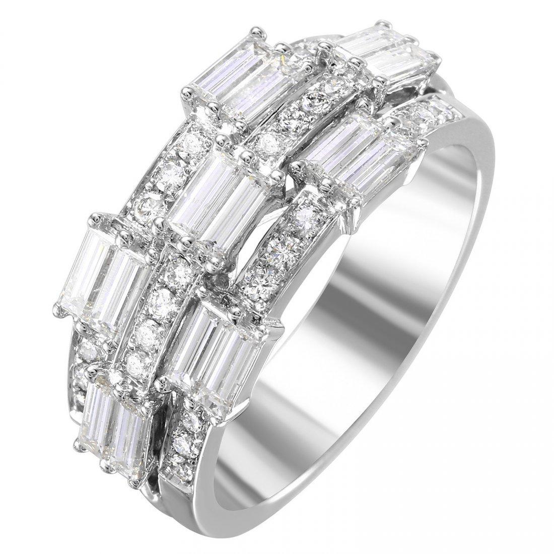 14KT White Gold Diamond Ring - #2021
