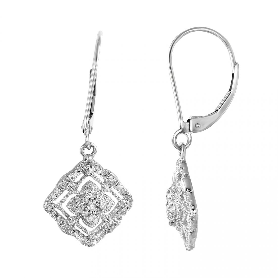 Sterling and Diamond Earrings