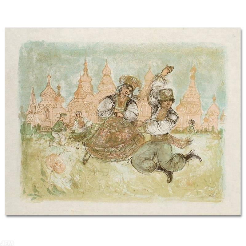 """""""Russian Dancers"""" Limited Edition Lithograph by Edna"""