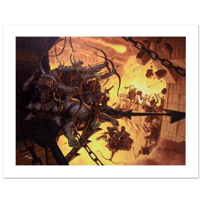 """""""The Siege Of Minas Tirith"""" Limited Edition Giclee on"""