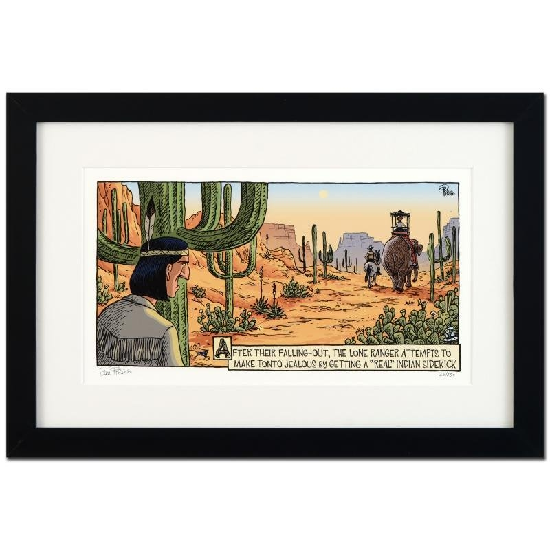 """Bizarro! """"Tonto Real Indian"""" is a Framed Limited"""