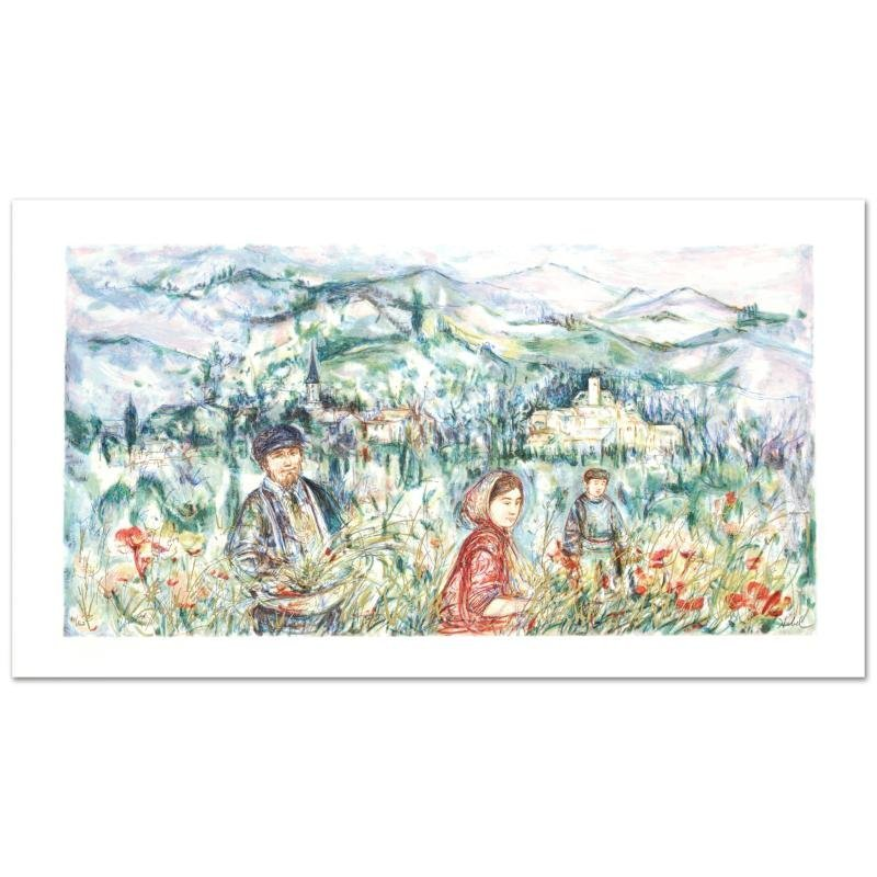 """The Flower Harvest"" Limited Edition Lithograph by Edna"