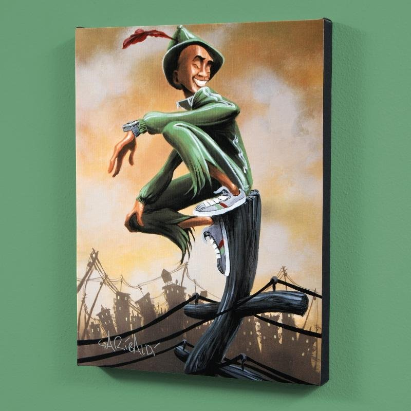 """Peter Pan"" LIMITED EDITION Giclee on Canvas (27"" x"