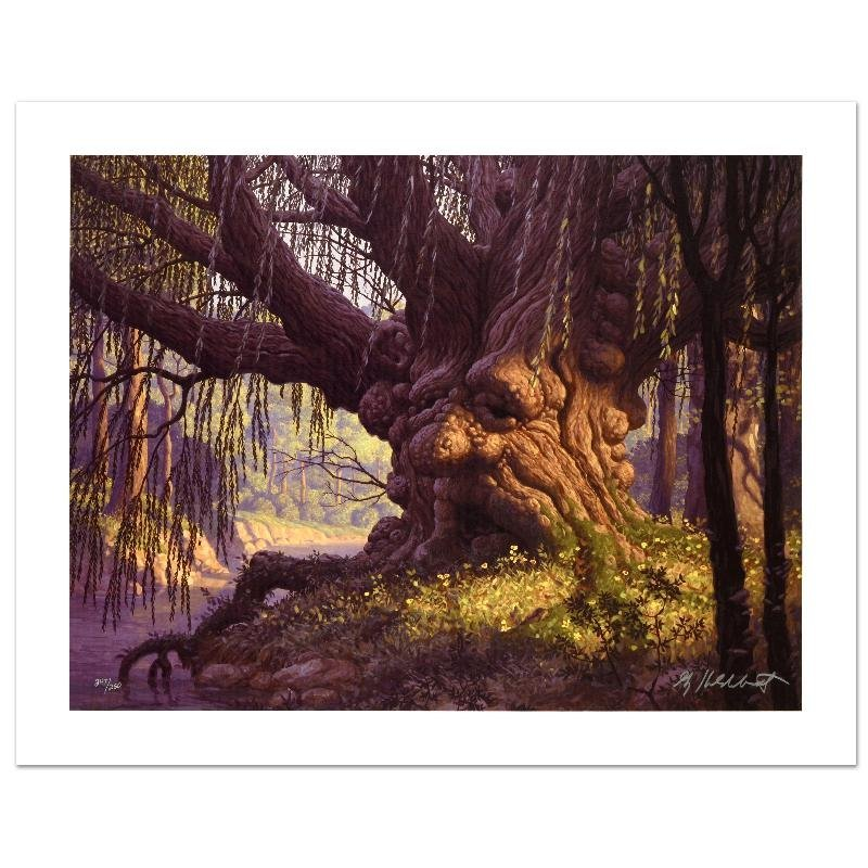 """Old Willow"" Limited Edition Giclee on Canvas by The"