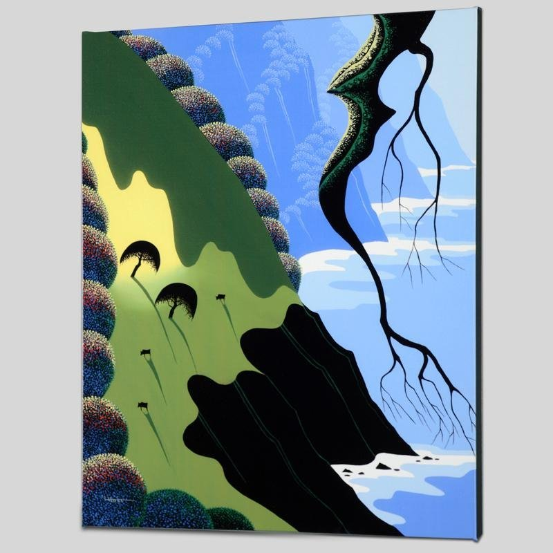 """""""Coast and Cows"""" Limited Edition Giclee on Canvas by"""