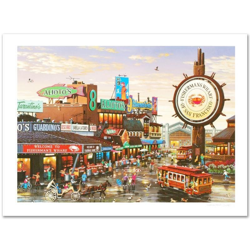 Fisherman's Wharf Limited Edition Lithograph by