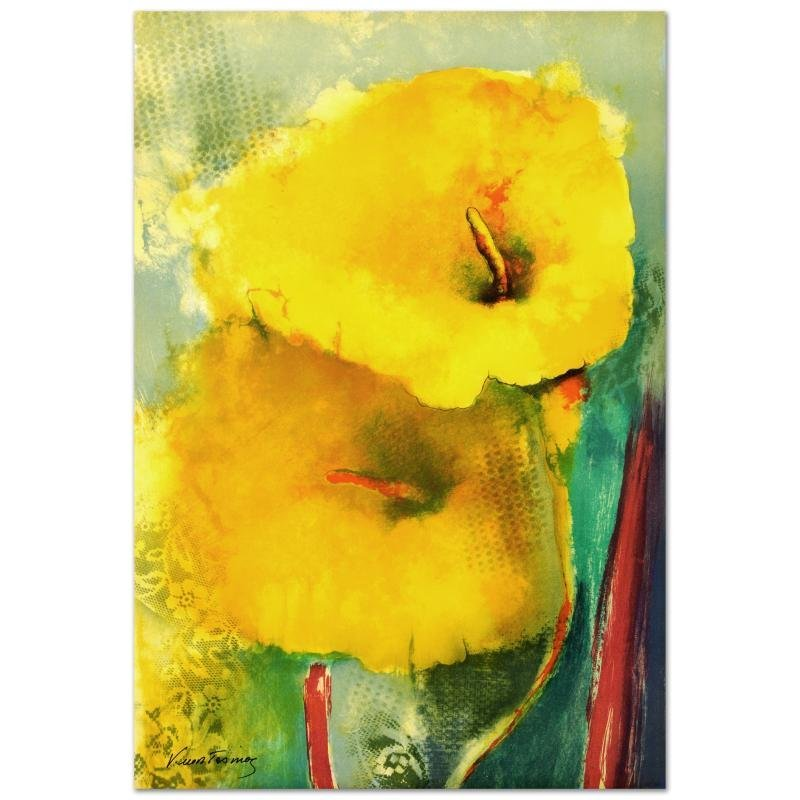 """Yellow Lily"" Limited Edition Hand Pulled Original"