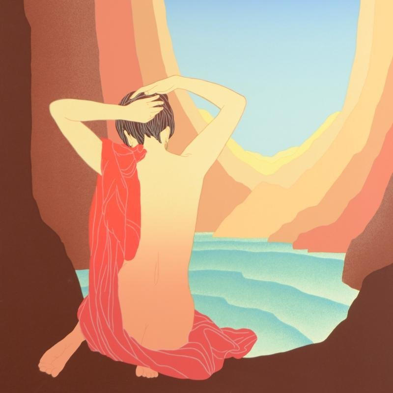 """Lady of the Canyon"" Limited Edition Serigraph (37"" x - 2"