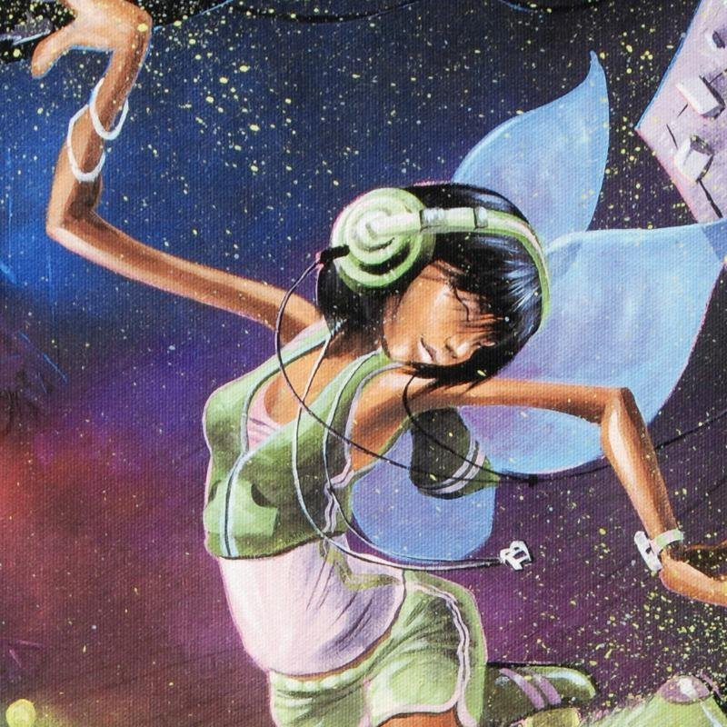 """Tinkerbell"" LIMITED EDITION Giclee on Canvas by David - 2"