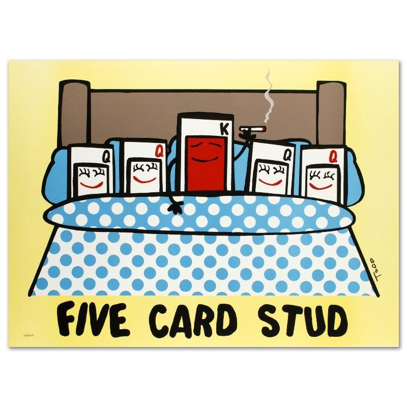 """""""Five Card Stud"""" Limited Edition Lithograph by Todd"""