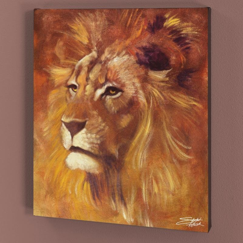 """""""Lion"""" LIMITED EDITION Giclee on Canvas by Stephen"""