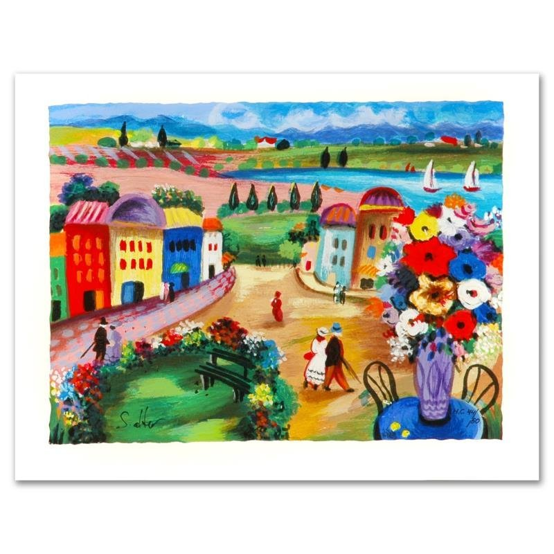 """""""Spring Day"""" Limited Edition Serigraph by Shlomo Alter,"""