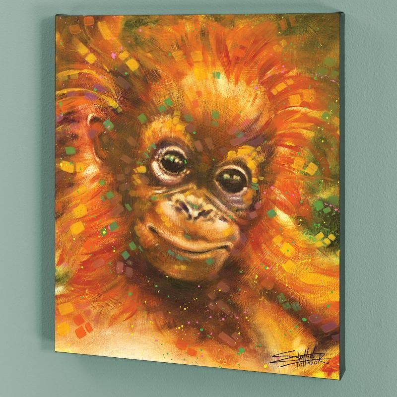 """""""Baby Orangutan"""" LIMITED EDITION Giclee on Canvas by"""