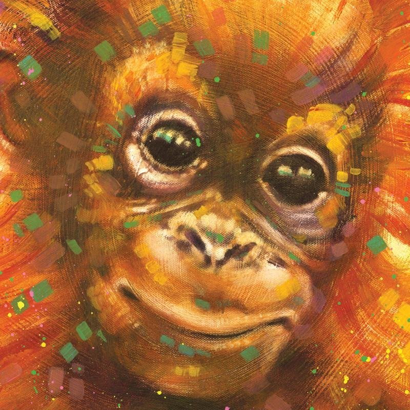 """""""Baby Orangutan"""" LIMITED EDITION Giclee on Canvas by - 2"""