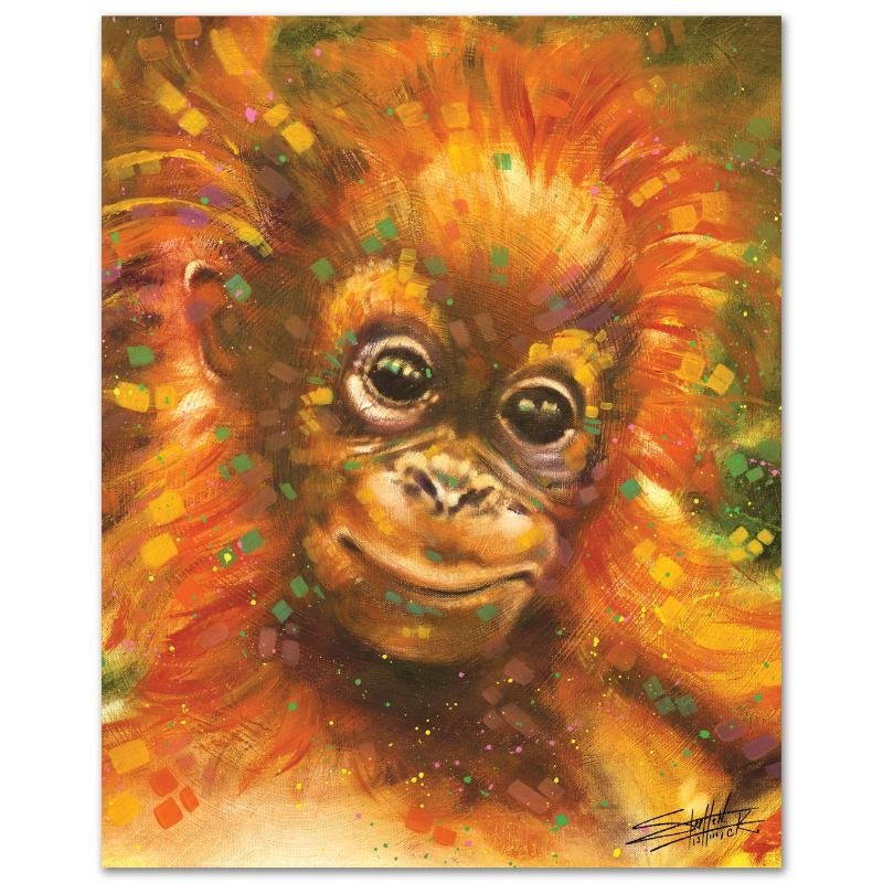 """""""Baby Orangutan"""" LIMITED EDITION Giclee on Canvas by - 3"""