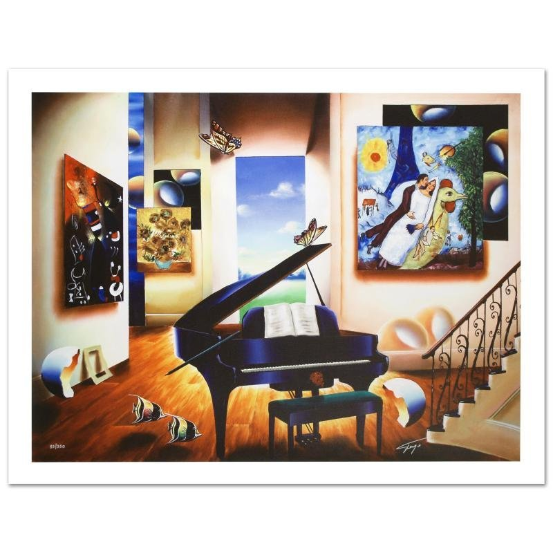 """""""Lover's Song"""" Limited Edition Giclee on Canvas (40"""" x"""