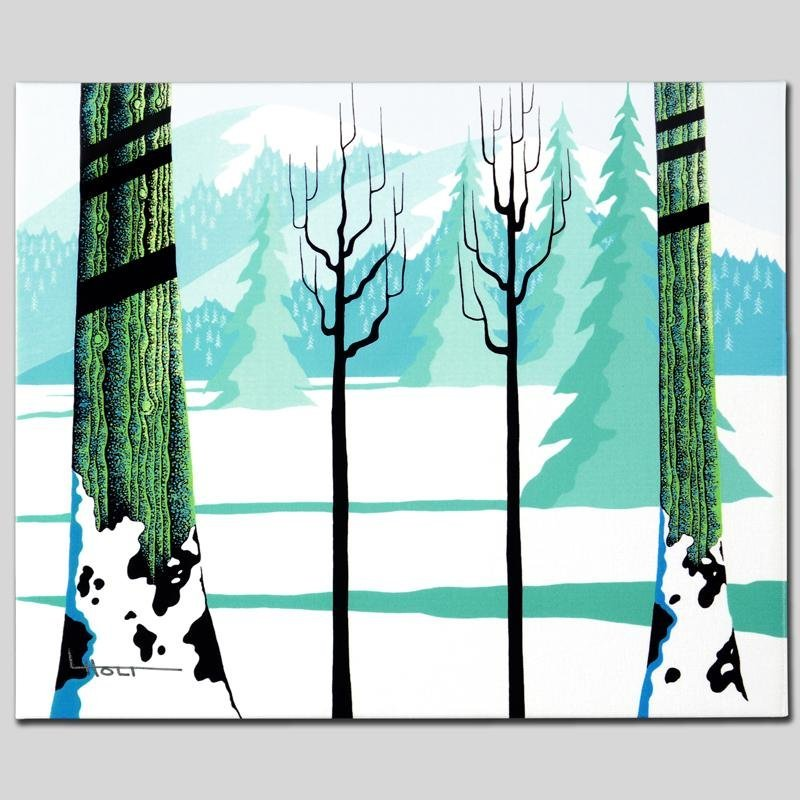 """Winter"" Limited Edition Giclee on Canvas by Larissa - 3"