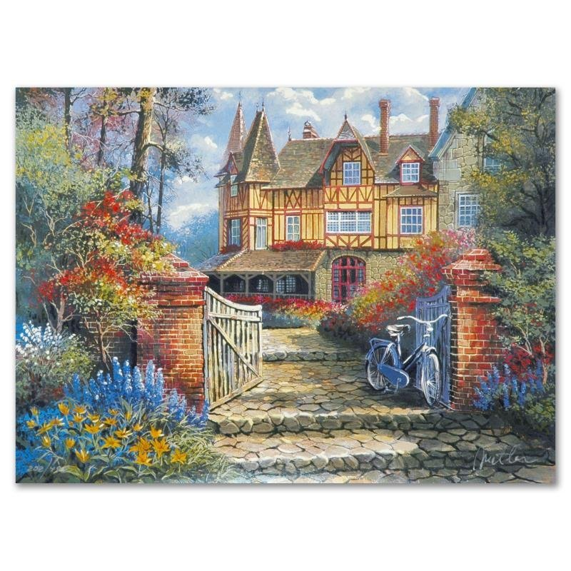 """""""Castle in the Woods"""" Limited Edition Lithograph by"""
