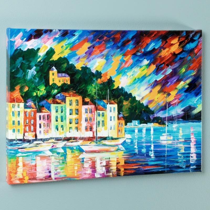 """Portofino Harbor - Italy"" LIMITED EDITION Giclee on"
