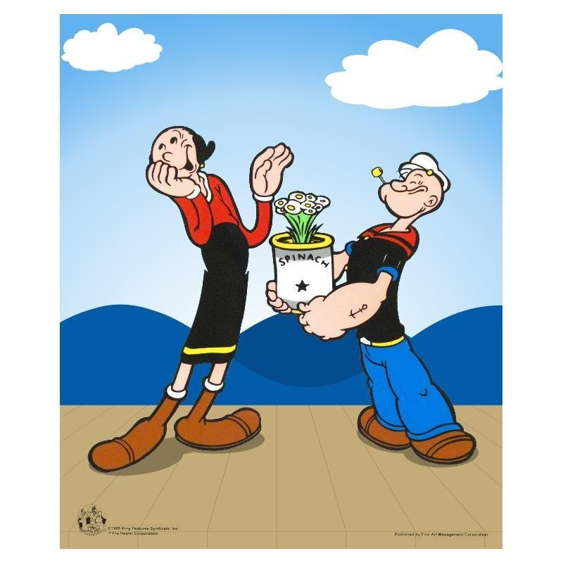 """""""Popeye Spinach"""" Limited Edition Popeye Sericel with"""