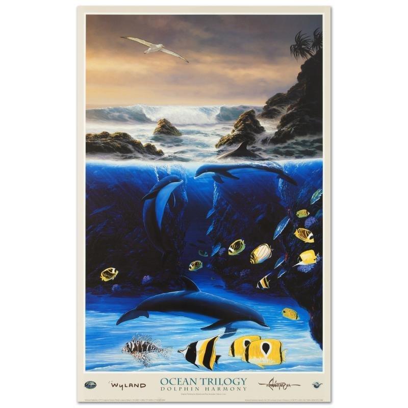"""Dolphin Harmony"" Poster by Wyland!"