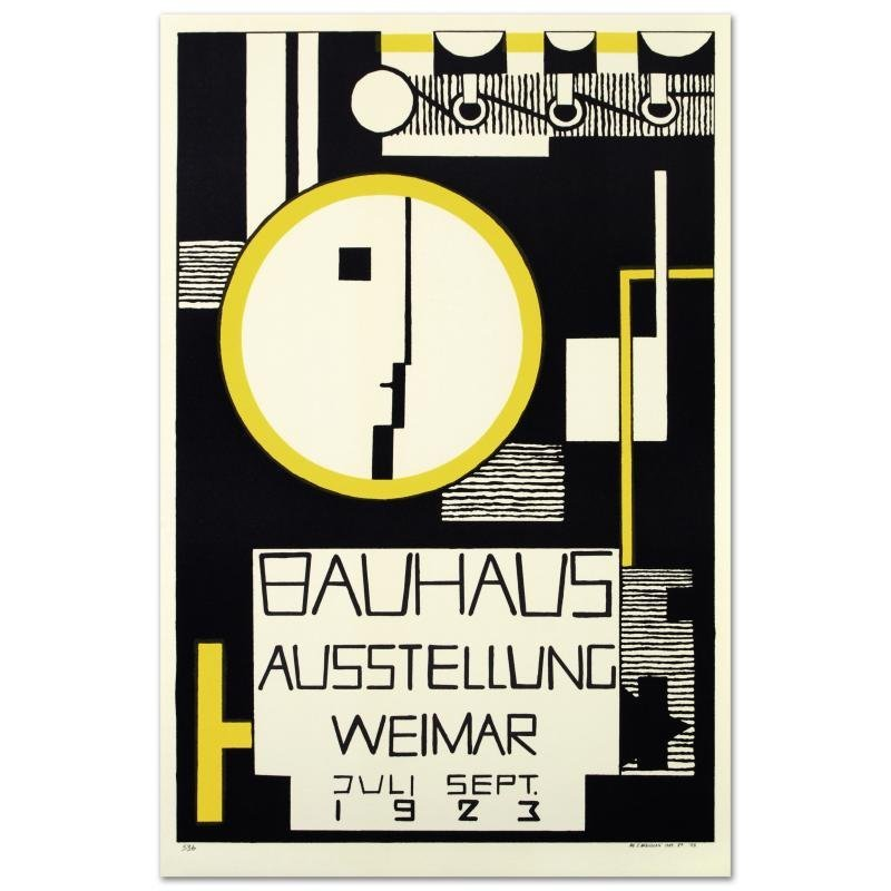 """Bauhaus-Variation"" Hand Pulled Lithograph by the RE"