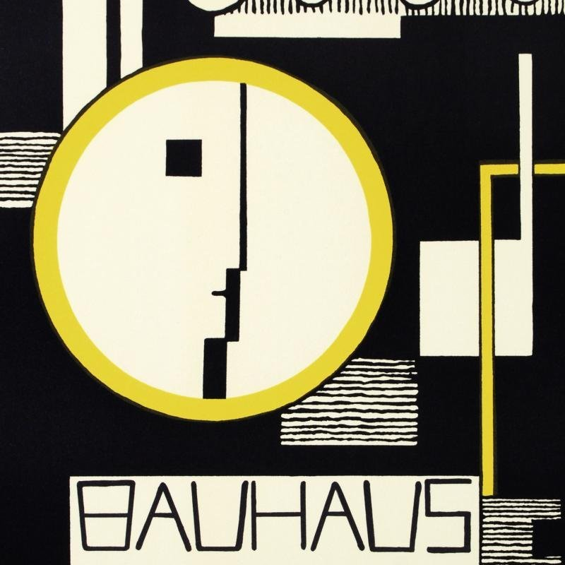"""Bauhaus-Variation"" Hand Pulled Lithograph by the RE - 2"