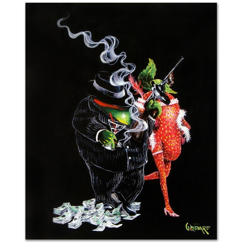 """""""Gangster Love"""" LIMITED EDITION Giclee on Canvas (28"""" x - 3"""