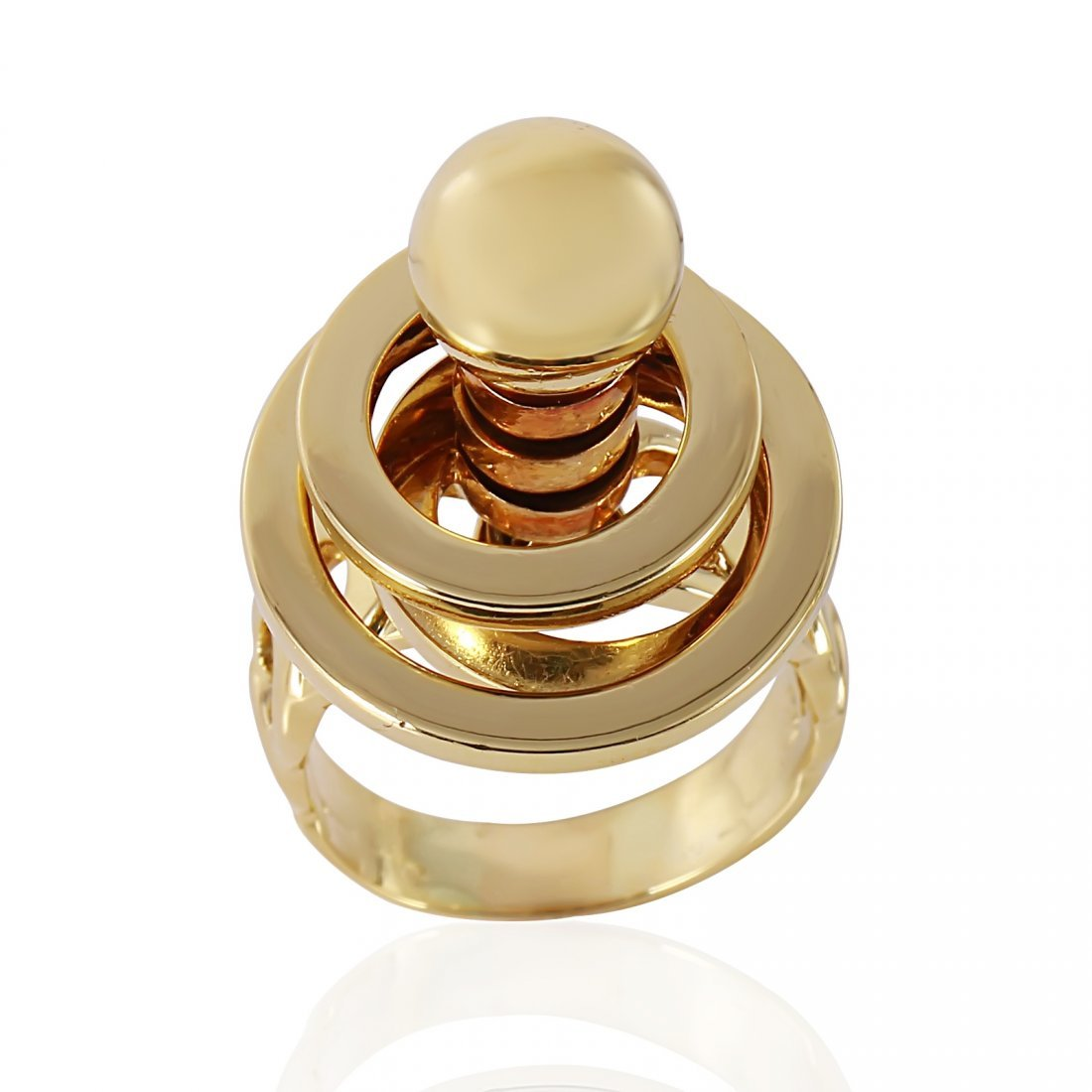 14KT Yellow Gold Spinning Ring