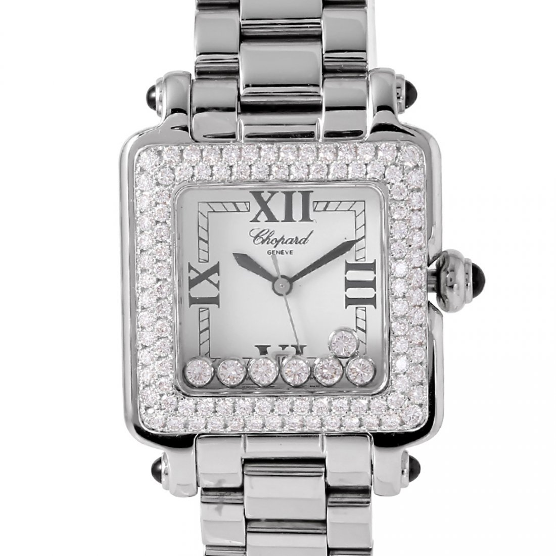 Chopard Stainless Steel Happy Sport With Diamonds