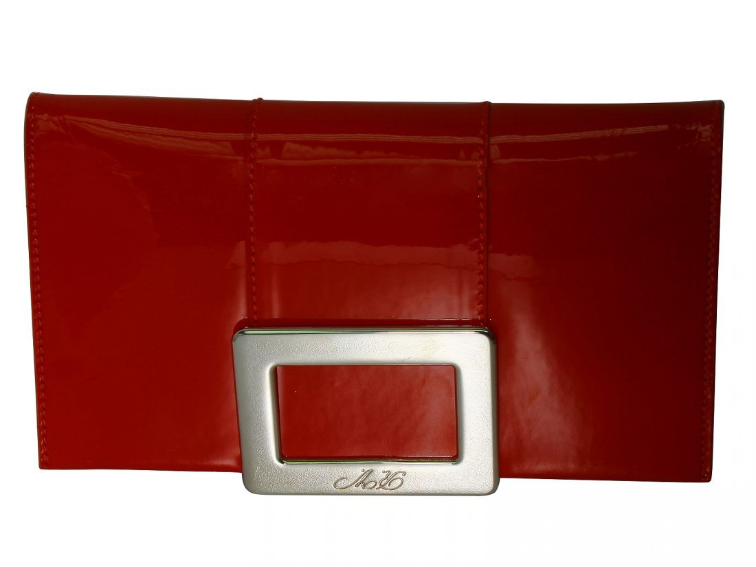 NEW Roger Vivier Purse Red Patent Leather With Bag