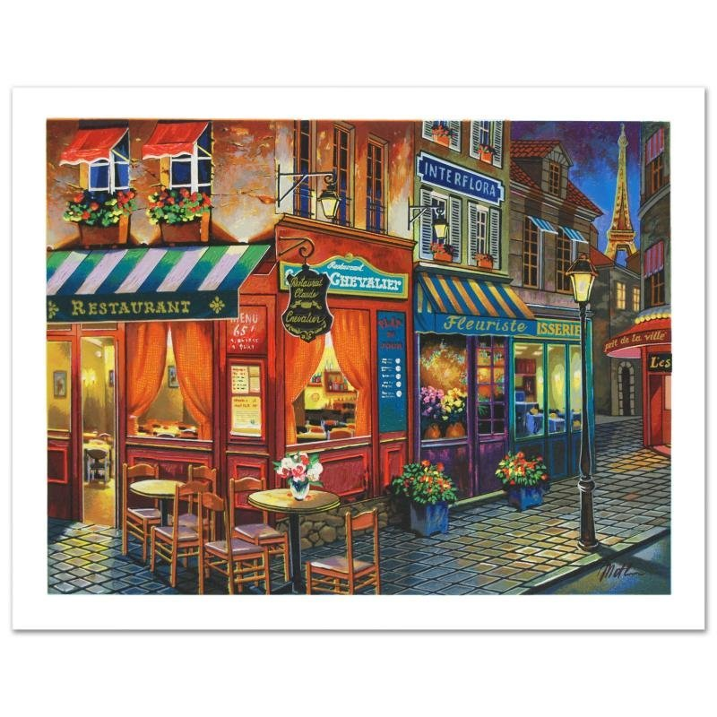 """Saint Denis La Nuit"" Limited Edition Lithograph by"