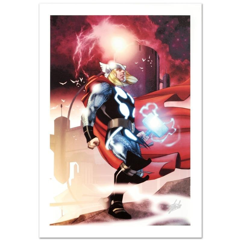 """Thor #615"" Ltd Ed Giclee on Canvas by Joe Quesada and"