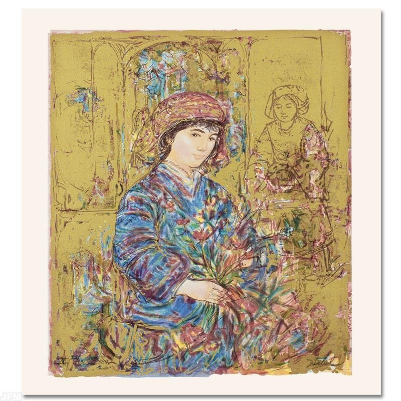 """Umbria's Garden"" Limited Edition Serigraph by Edna"
