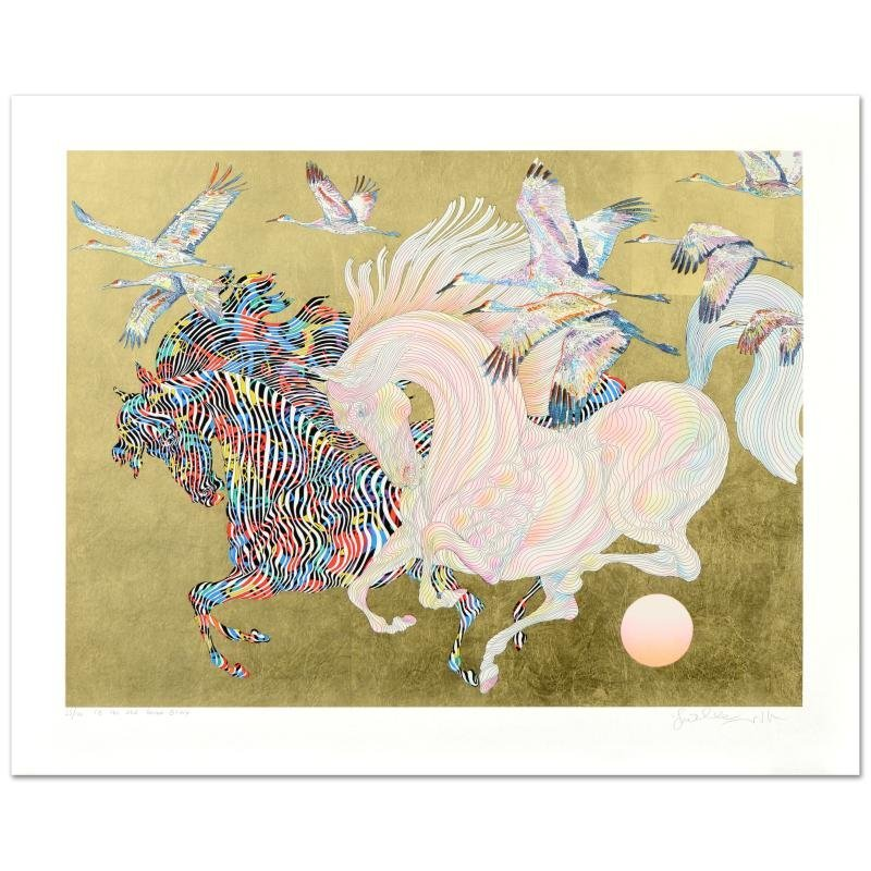 Le Vol Des Grues Limited Edition Serigraph with Hand