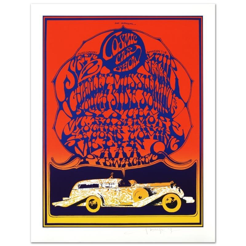 """""""Cosmic Car Show"""" Limited Edition Lithograph By Stanley"""