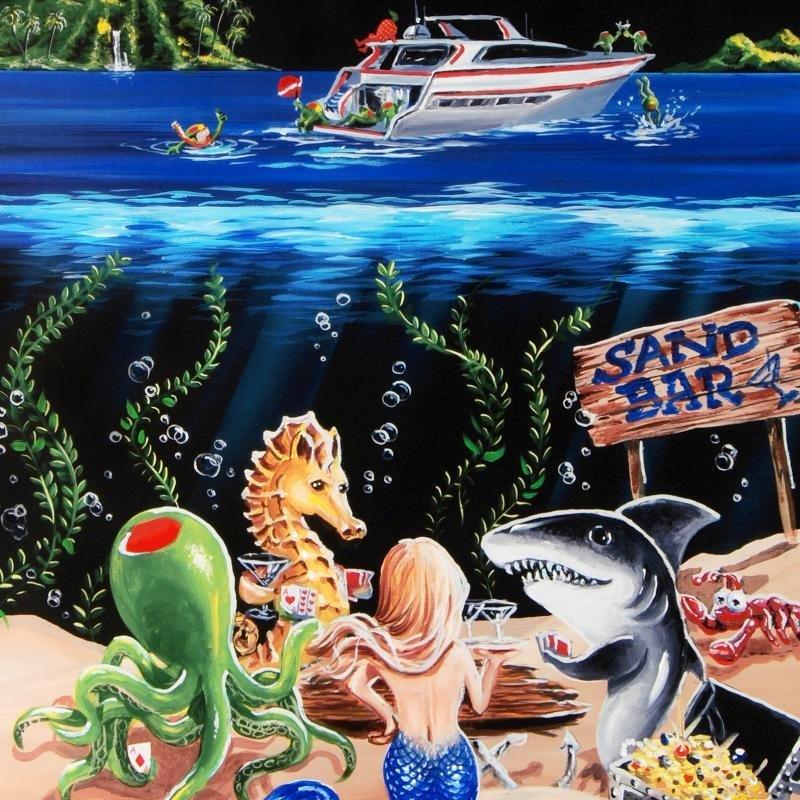 """Sand Bar 1"" LIMITED EDITION Giclee on Canvas (28"" x - 2"