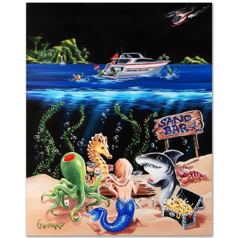 """Sand Bar 1"" LIMITED EDITION Giclee on Canvas (28"" x - 3"
