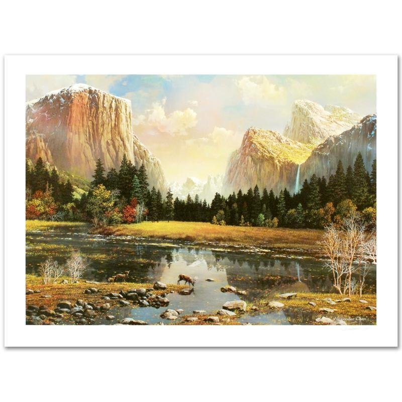 """Yosemite Splendor"" Limited Edition Lithograph by"